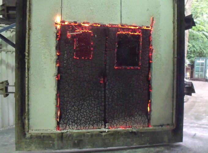 Fire Door Test : Strebord door cores falcon panel products